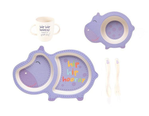Harley the Hippo Dinner Set - 5 Piece - Little Red Barn Door