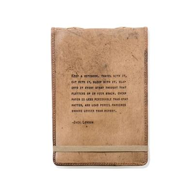 Leather Journal - Jack London - Little Red Barn Door