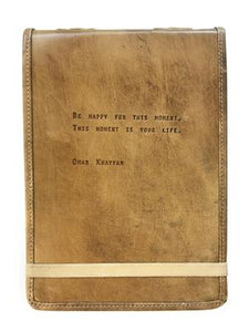 Leather Journal - Omar Khayyam - Little Red Barn Door