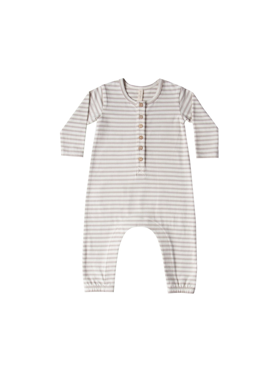 Long Sleeve Jumpsuit - Fog Stripe - Little Red Barn Door