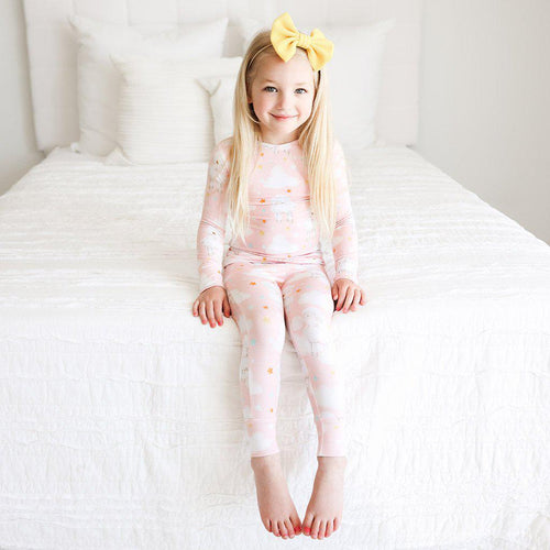 Mary - Long Sleeve Basic Pajamas - Little Red Barn Door