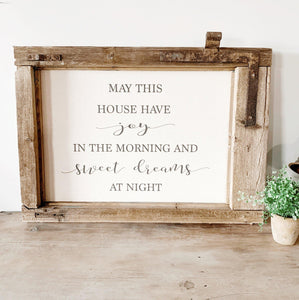 May This House Sign - Little Red Barn Door