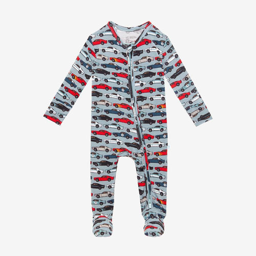 Miles - Footie Zippered Romper - Little Red Barn Door