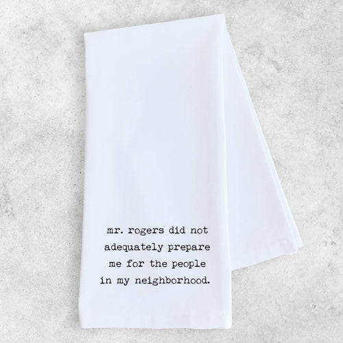 Mr. Rogers Tea Towel - Little Red Barn Door