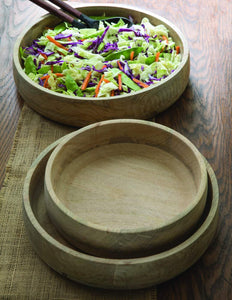 Natural Mango Wood Serving Bowls, 3 Sizes - Little Red Barn Door