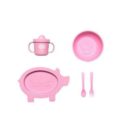 Oink Pig Dinner Set - 5 Piece - Little Red Barn Door