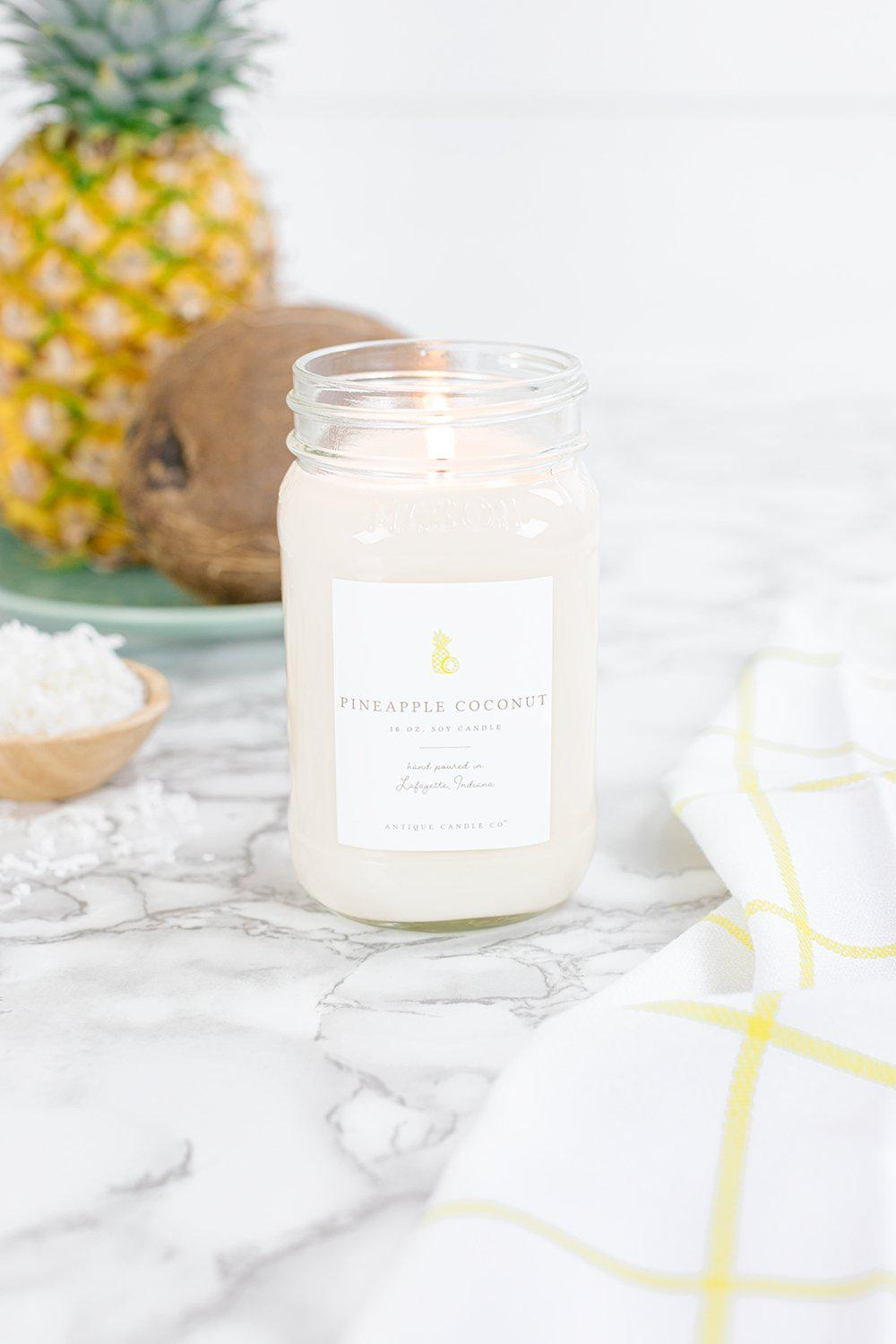 Pineapple Coconut Candle (16 oz.) - Little Red Barn Door
