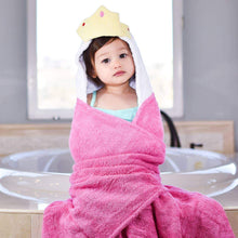 Load image into Gallery viewer, Princess Pink Hooded Towel - Little Red Barn Door