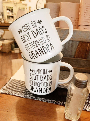 Promoted to Grandpa Mug - Little Red Barn Door