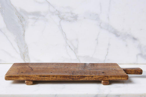 Rustic Footed Serving Tray - Little Red Barn Door
