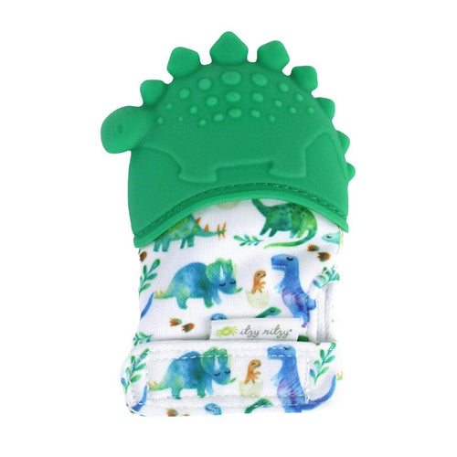 Silicone Teething Mitt - Dino - Little Red Barn Door