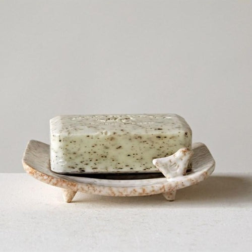 Soap Dish w/ Bird - Little Red Barn Door