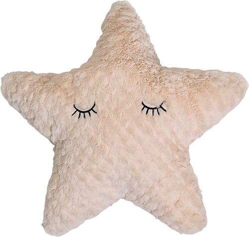 Star Shaped Pillow with Eyelashes - Little Red Barn Door