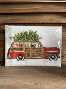 Station Wagon Flour Sack Towel - Little Red Barn Door