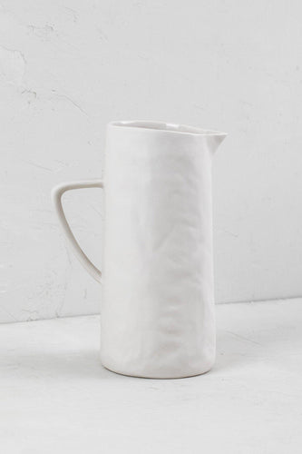 Stoneware Pitcher - White - Little Red Barn Door