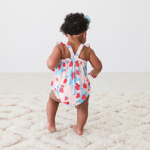 Load image into Gallery viewer, Strawberry - Basic Ruffled Capsleeve Bubble Romper - Little Red Barn Door