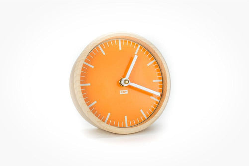 TAIT Desk Clock - Tangerine - Little Red Barn Door