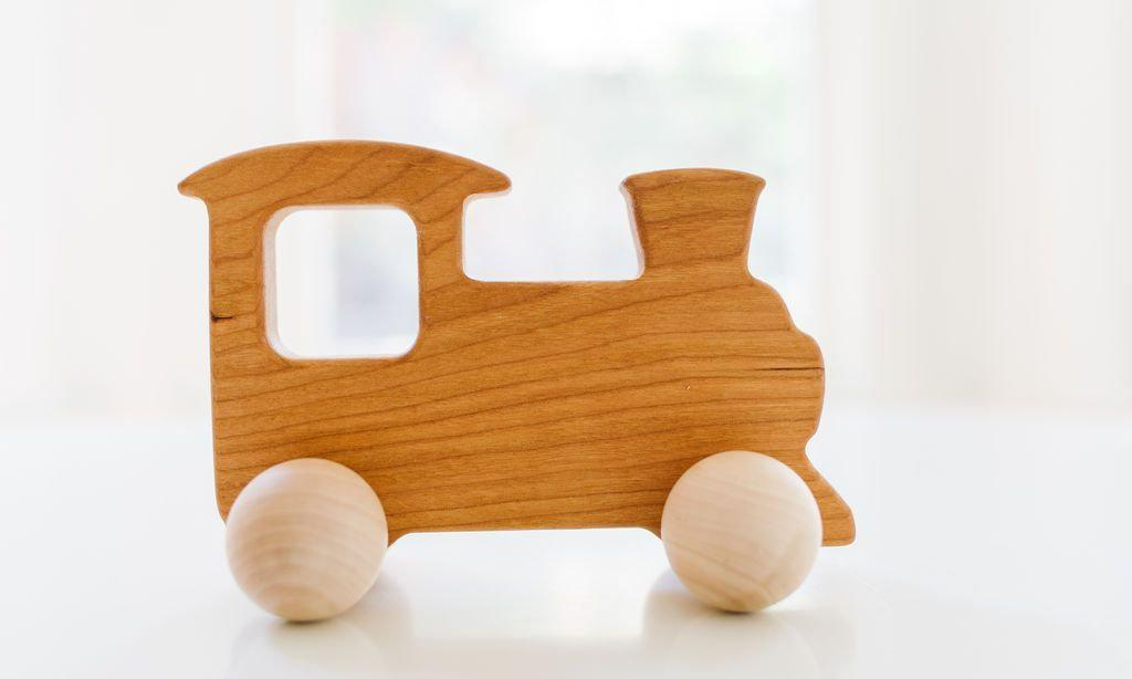Train Push Toy - Little Red Barn Door