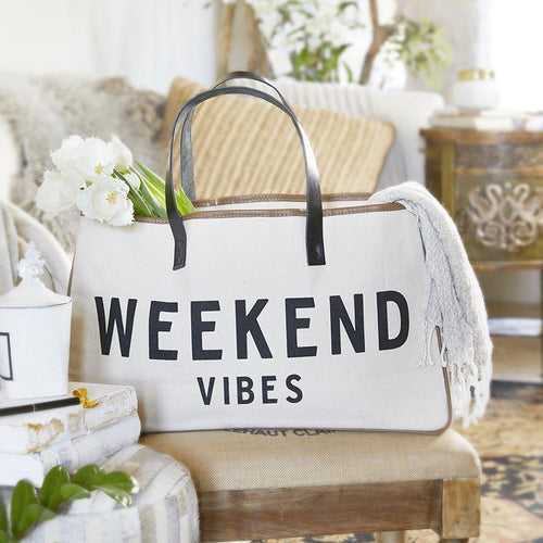 WEEKEND VIBES - Canvas Tote - Little Red Barn Door