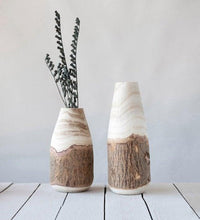 Load image into Gallery viewer, Wood Vase with Live Edge - Little Red Barn Door