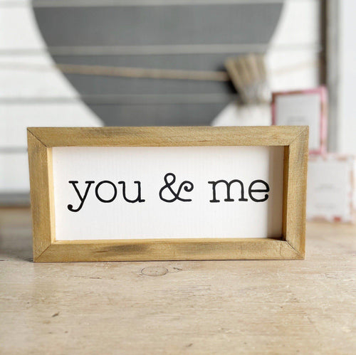 You & Me Sign - Little Red Barn Door