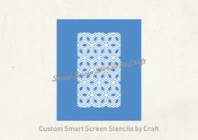 Load image into Gallery viewer, 3D Cube Pattern Silkscreen Stencil - Seamless, Self adhesive, Reusable - Canvas, Cards, Glass, Ceramic, Walls, Fabric, Wood, Metal, Clay