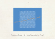 Load image into Gallery viewer, Art Deco 3D Boxes SilkScreen Stencil - Seamless, Reusable, Craft - Canvas, Cards, Glass, Ceramic, Walls, Fabric, Wood, Polymer Clay, Metal