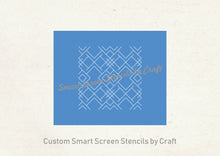 Load image into Gallery viewer, Seamless Art Deco Design SilkScreen Stencil - Reusable, Self Adhesive - Canvas, Cards, Glass, Ceramic, Wall, Fabric, Wood, Polymer Clay, etc