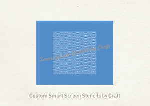 Custom Art Deco Pattern Silkscreen Stencil - Reusable, Adhesive - Canvas, Cards, Glass, Ceramic, Wall, Fabric, Wood, Plastic, Metal, Clay