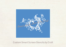 Load image into Gallery viewer, Butterfly Heart Frame SmartScreen Stencil - Reusable, Self adhesive - Canvas, Cards, Glass, Ceramic, Walls, Fabric, Wood, Plastic, Metal