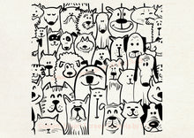 Load image into Gallery viewer, Custom Reusable Cartoon Pets SilkScreen Stencil Craft - Canvas, Cards, Glass, Ceramic, Walls, Fabric, Wood, Tote-bags, Polymer Clay