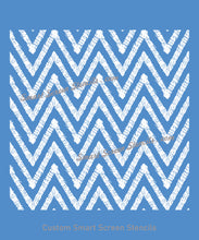 Load image into Gallery viewer, Seamless Ethnic Sown Zigzag SilkScreen Stencil - Reusable, Self Adhesive - Canvas, Cards, Glass, Ceramic, Tile, Wall, Fabric, Wood, Metal