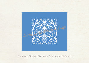 Custom Reusable French Country Silkscreen Stencil - Seamless, Adhesive - Canvas, Cards, Glass, Ceramic, Wall, Fabric, Wood, Metal, Clay, etc