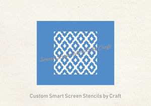 Mediterranean Tile SilkScreen Stencil - Seamless, Reusable, Adhesive - Canvas, Cards, Glass, Ceramic, Fabric, Wood, Metal, Textile, Clay etc