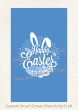 Load image into Gallery viewer, Happy Easter Wreath SilkScreen Stencil - Reusable - Canvas, Cards, Glass, Ceramic, Walls, Fabric, Wood, Tote-bags, Metal, Polymer Clay.