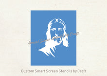 Load image into Gallery viewer, Jesus SilkScreen Stencil - Custom, Reusable, Self-adhesive - Canvas, Cards, Glass, Ceramic, Walls, Fabric, Wood, Metal, Tote-bags, Clay
