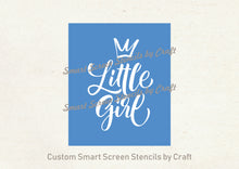 Load image into Gallery viewer, Little Girl Pincess SmartScreen Stencil - Reusable, Adhesive - Fabric, Canvas, Cards, Glass, Ceramic, Walls, Wood, Plastic, Metal, Clay