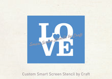 Load image into Gallery viewer, Love Heart SmartScreen Stencil by Craft- Reusable, Self adhesive - Canvas, Cards, Glass, Ceramic, Walls, Fabric, Wood, Plastic, Metal, Clay