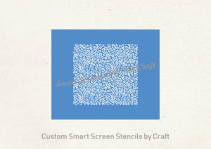 Seamless Leopard Print Silkscreen Stencil - Reusable, Self Adhesive - Canvas, Cards, Glass, Ceramics, Wall, Fabric, Wood, Clay, Metal, Paper