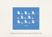 Load image into Gallery viewer, Cute Baby Announcement SmartScreen Stencil - Reusable, Self adhesive - Canvas, Cards, Glass, Ceramic, Walls, Fabric, Wood, Plastic, Metal