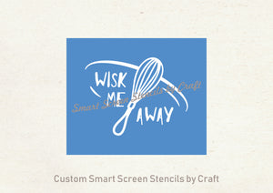 Wisk Me Away SmartScreen Stencil - Reusable, Self adhesive - Canvas, Cards, Glass, Ceramic, Wall, Fabric, Wood, Plastic, Metal, Clay, etc