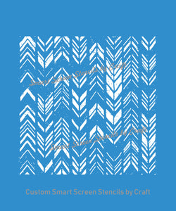 Seamless Ethnic Zigzag Design - Custom Reusable SilkScreen Stencil - Canvas, Cards, Glass, Ceramic, Tile, Walls, Fabric, Wood, Metal, Clay