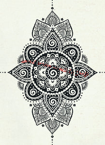 Mandala Silkscreen Stencil - Reusable, Self Adhesive, Flexible - Fabric, Paper, Glass, Clay, Metal, Wood, Textile, Stone, Plastice, Wall