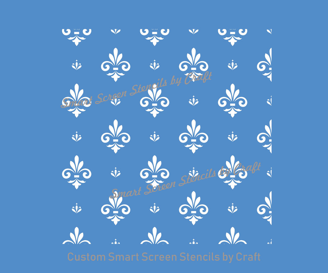 French Damask SilkScreen Stencil Craft - Reusable, Seamless - Canvas, Cards, Glass, Ceramic, Wall, Fabric, Wood, Clay, Metal, Textile, Paper