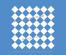 Load image into Gallery viewer, Classic Checkered Pattern SilkScreen Stencil - Reusable, Seamless - Canvas, Cards, Glass, Ceramic, Wall, Fabric, Wood, Metal, Plastic, Paper
