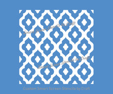 Load image into Gallery viewer, Mediterranean Tile SilkScreen Stencil - Seamless, Reusable, Adhesive - Canvas, Cards, Glass, Ceramic, Fabric, Wood, Metal, Textile, Clay etc