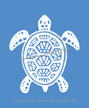Load image into Gallery viewer, Custom Turtle SilkScreen Stencil - Reusable, Seamless, Craft - Canvas, Cards, Glass, Ceramic, Walls, Fabric, Wood, Metal, Clay, Textile, etc