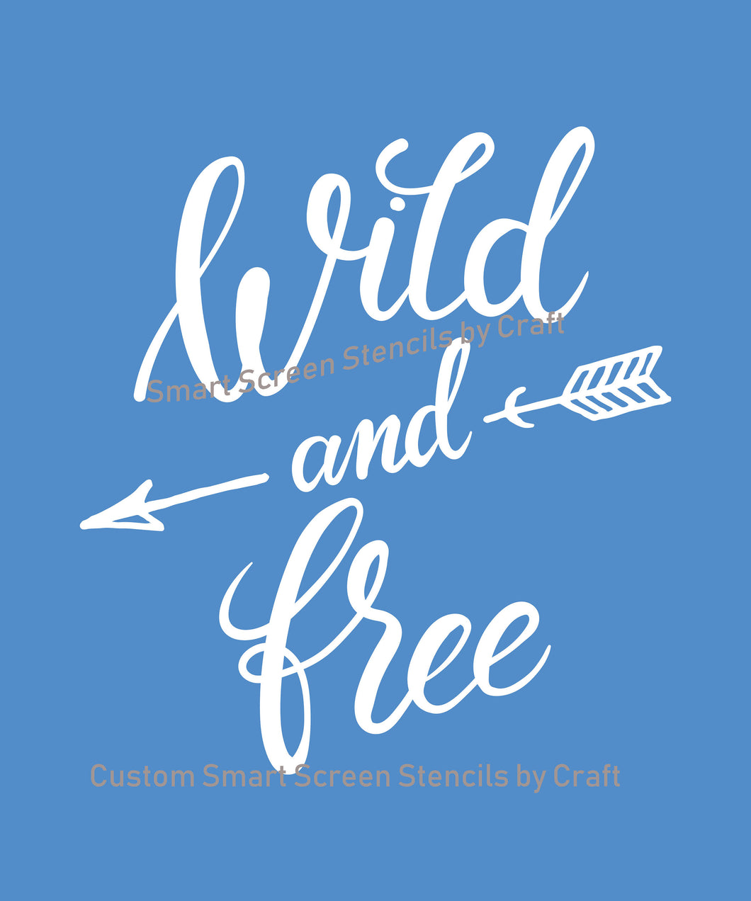 Bohemian Wild and Free SilkScreen Stencil - Reusable, Craft - Canvas, Cards, Glass, Ceramic, Walls, Fabric, Wood, Metal Tote-bags, T-shirts
