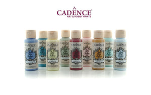 Style Matt Fabric Paint Cadence - 59ml, paints sold individually - High quality, decorative water based matt paint for fabric