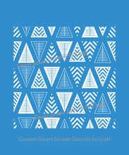 Load image into Gallery viewer, Seamless Geometric Triangle SilkScreen Stencil - Reusable Adhesive - Canvas, Cards, Glass, Ceramic, Wall, Fabric, Wood, Metal, Plastic, Clay